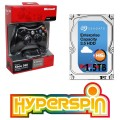 1.5TB Hyperspin Hard Drive INTERNAL with Microsoft Xbox 360 Wireless Controller & Receiver