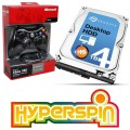 4TB Hyperspin Drive INTERNAL with Xbox Controller