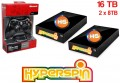 16TB Hyperspin Hard Drive EXTERNAL (8TBx2) with Microsoft Xbox 360 Wireless Controller & Receiver